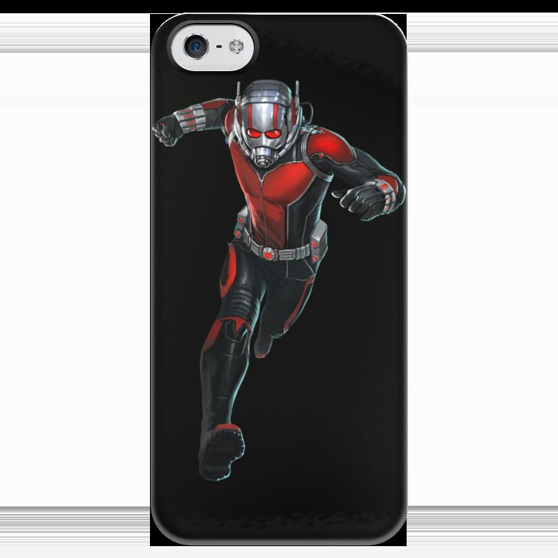 Чехол для iPhone 5 глянцевый, с полной запечаткой Printio Человек-муровей / ant-man чехол для iphone 6 глянцевый printio человек муравей ant man