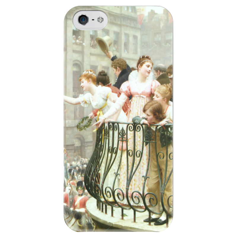 Чехол для iPhone 5 глянцевый, с полной запечаткой Printio 1816 (эдмунд блэр лейтон) электропила patriot es 1816