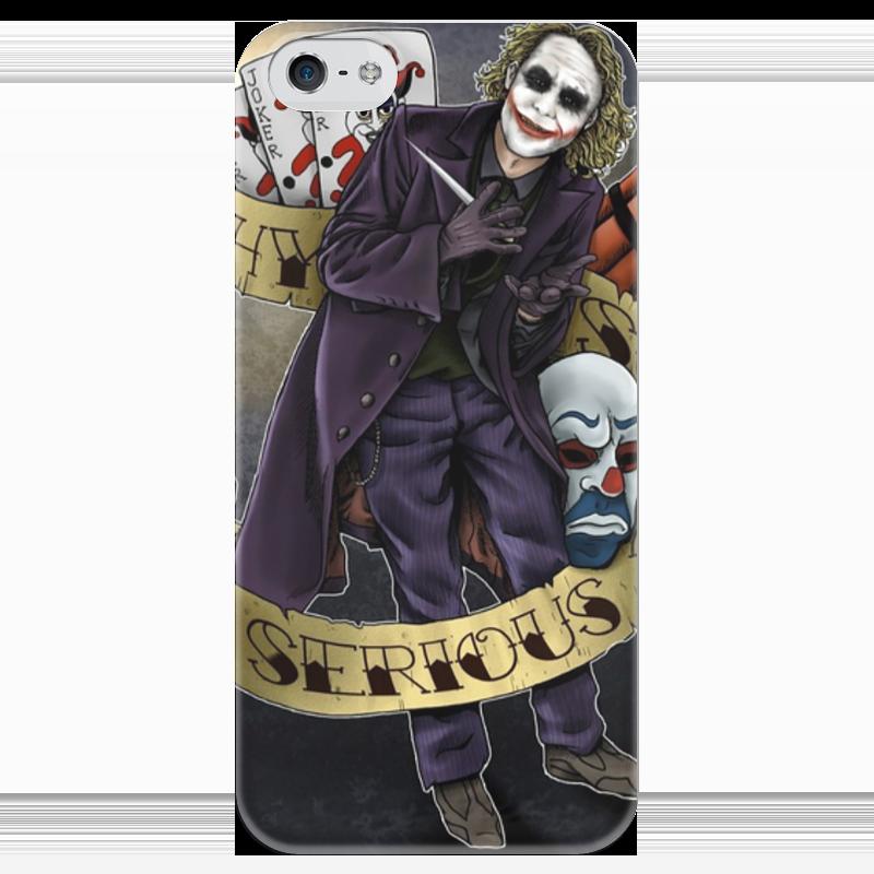 Чехол для iPhone 5 глянцевый, с полной запечаткой Printio Joker чехол для iphone 5 глянцевый с полной запечаткой printio haiku