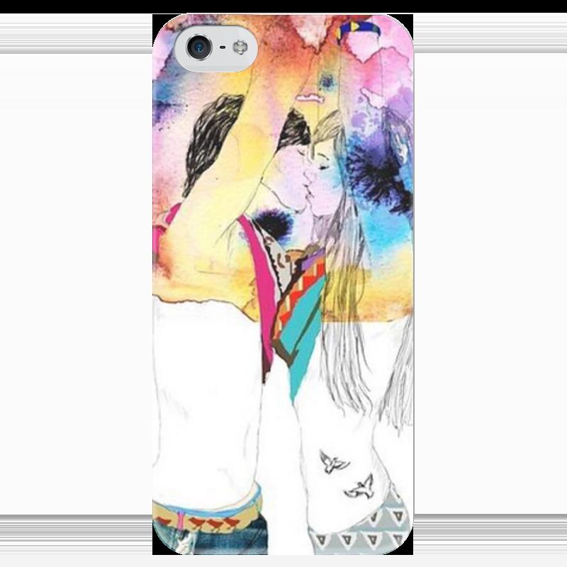 Чехол для iPhone 5 глянцевый, с полной запечаткой Printio Love - чехол для iphone 5 глянцевый с полной запечаткой printio куртизанка courtesan after eisen