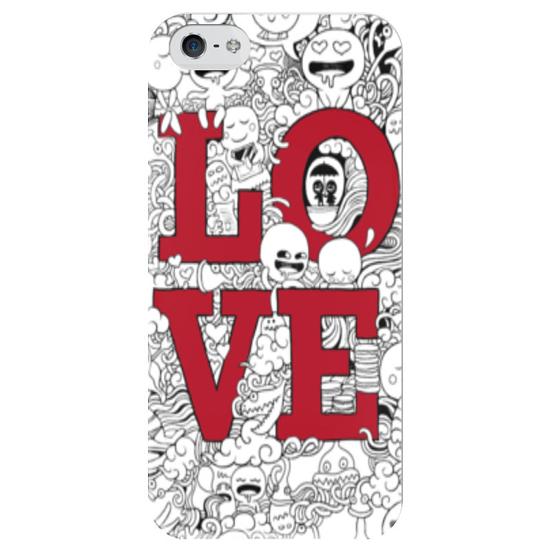 Чехол для iPhone 5 глянцевый, с полной запечаткой Printio Doodle love чехол для iphone 5 глянцевый с полной запечаткой printio love