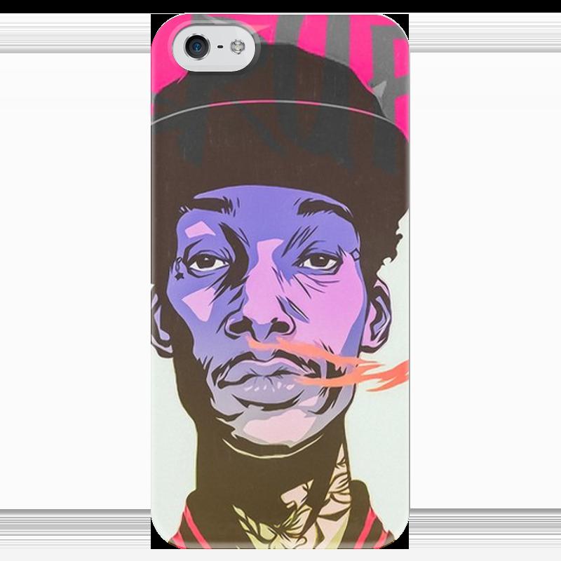 все цены на Чехол для iPhone 5 глянцевый, с полной запечаткой Printio Swag smoke онлайн