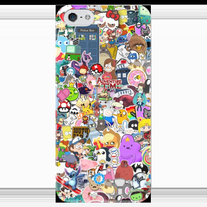 Чехол для iPhone 5 глянцевый, с полной запечаткой Printio Stickers чехол для iphone 5 глянцевый с полной запечаткой printio ember spirit dota 2
