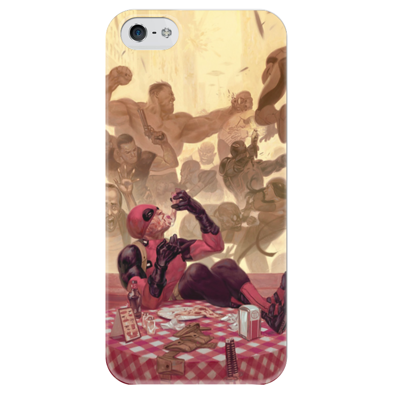 Фото - Чехол для iPhone 5 глянцевый, с полной запечаткой Printio Дэдпул (deadpool) чехол для iphone 5 глянцевый с полной запечаткой printio deadpool vs punisher