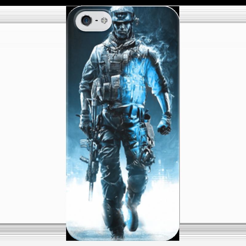 Чехол для iPhone 5 глянцевый, с полной запечаткой Printio Battlefield 4 чехол для iphone 4 глянцевый с полной запечаткой printio кролик