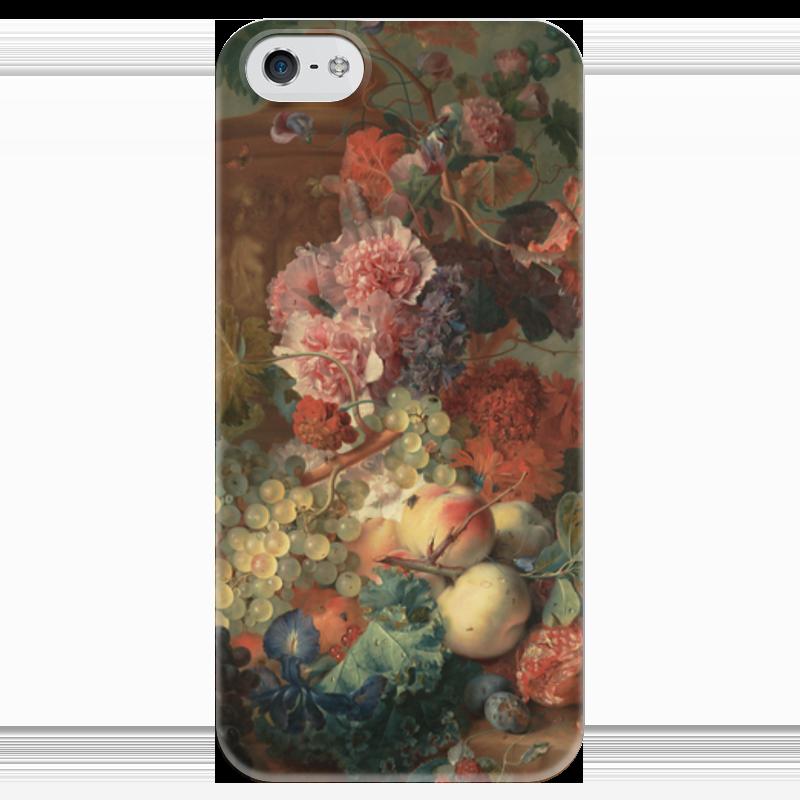 Чехол для iPhone 5 глянцевый, с полной запечаткой Printio Цветы (ян ван хёйсум) чехол для samsung galaxy s5 printio цветы ян ван хёйсум