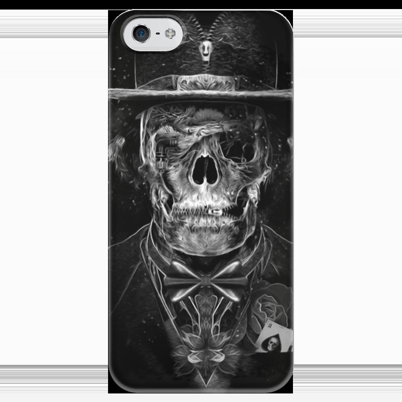 Чехол для iPhone 5 глянцевый, с полной запечаткой Printio Mr. skull чехол для iphone 5 глянцевый с полной запечаткой printio red skull