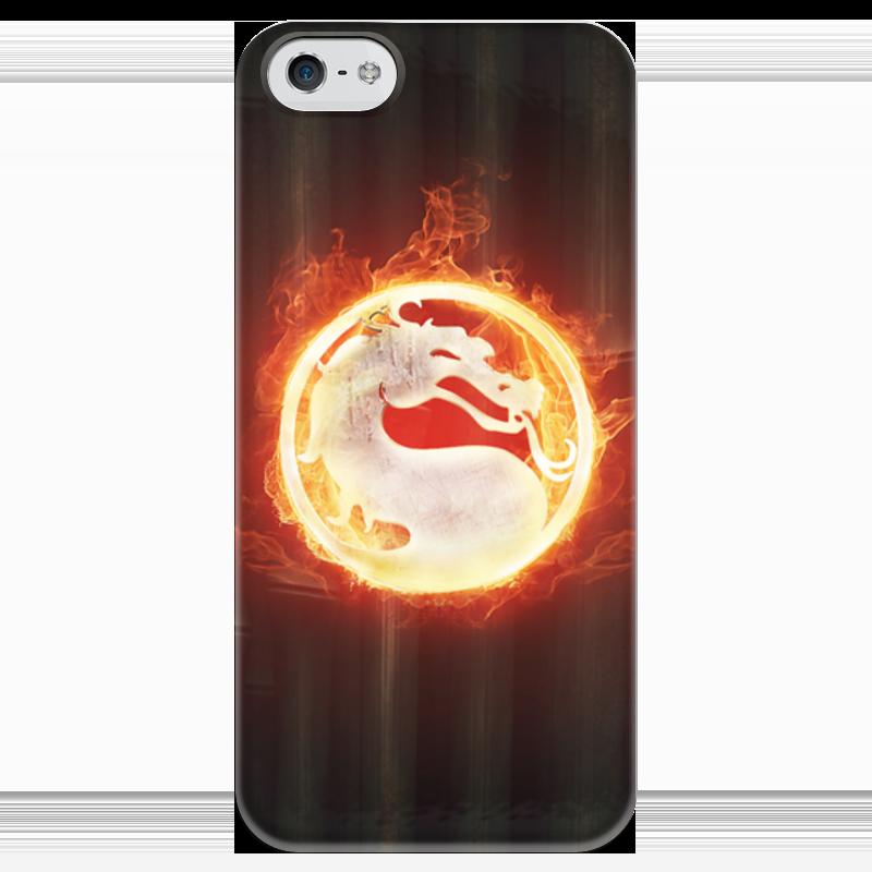 Чехол для iPhone 5 глянцевый, с полной запечаткой Printio Mortal kombat