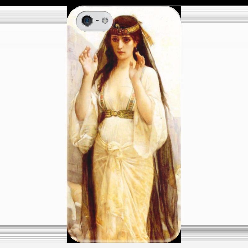 Чехол для iPhone 5 глянцевый, с полной запечаткой Printio Дочь иеффая (картина кабанеля) чехол для iphone 5 с подставкой с полной запечаткой printio паж картина кабанеля