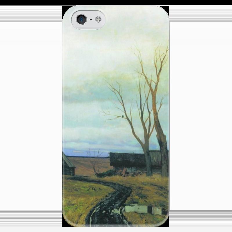 Чехол для iPhone 5 глянцевый, с полной запечаткой Printio Осень. дорога в деревне (левитан) дом в деревне с большим участком недорого