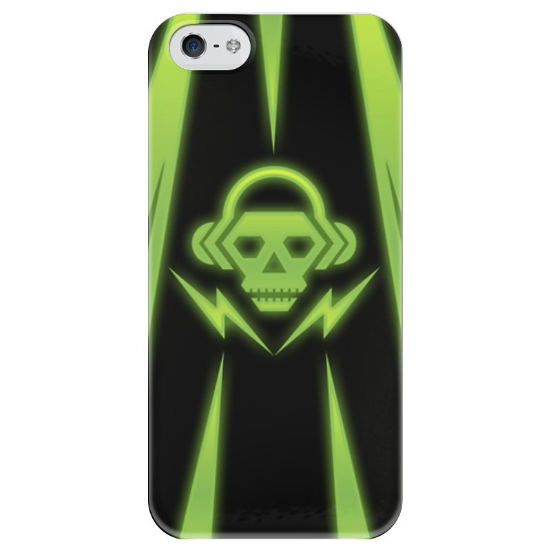 Чехол для iPhone 5 глянцевый, с полной запечаткой Printio Skull чехол для iphone 5 глянцевый с полной запечаткой printio candy skull
