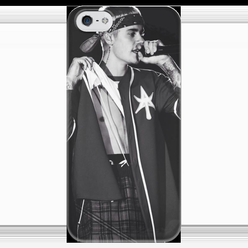Фото Чехол для iPhone 5 глянцевый, с полной запечаткой Printio Justin bieber наклейка на телефон joylatte8 stick justin bieber 3m iphone5s 5 4s 4