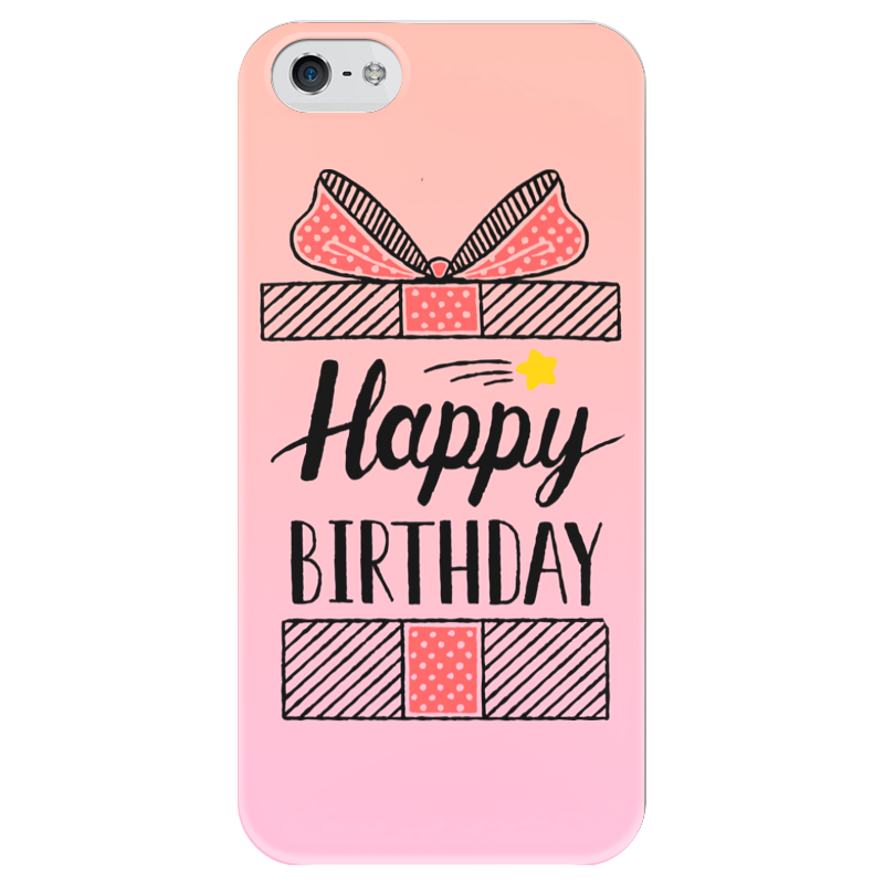 Чехол для iPhone 5 глянцевый, с полной запечаткой Printio Happy birthday чехол для iphone 5 глянцевый с полной запечаткой printio how to be happy