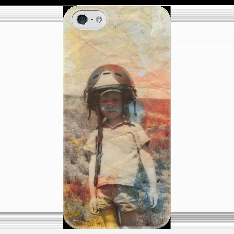 Чехол для iPhone 5 глянцевый, с полной запечаткой Printio Пилот магазины где фото обои