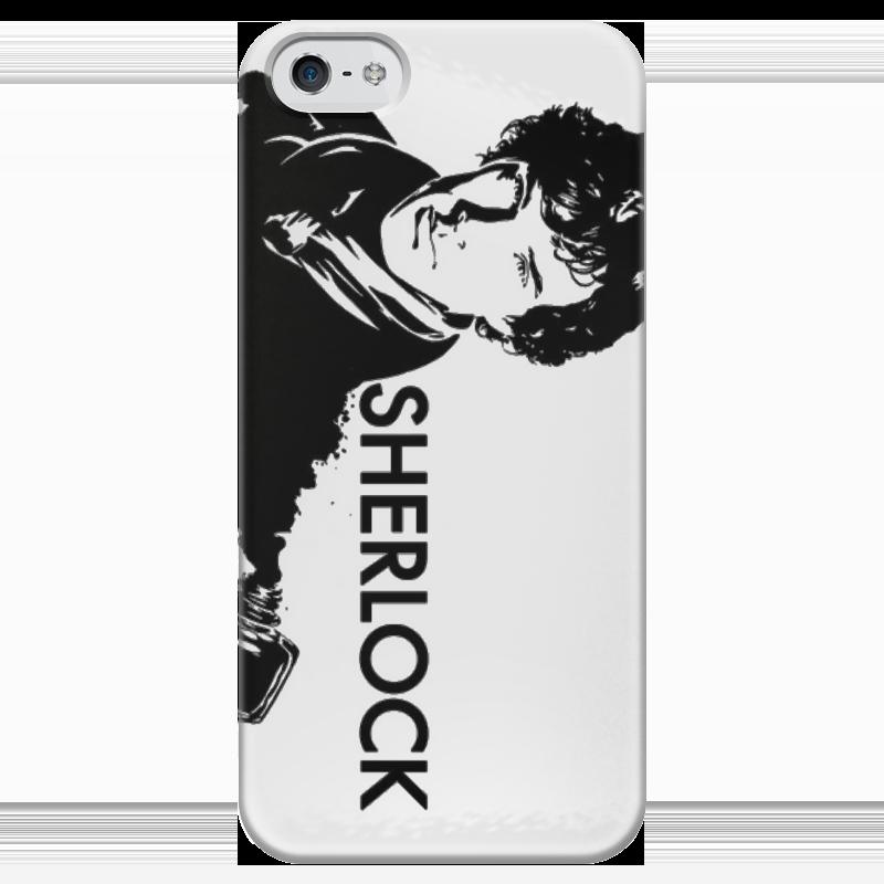 Чехол для iPhone 5 глянцевый, с полной запечаткой Printio Шерлок чехол для iphone 5 глянцевый с полной запечаткой printio хлоя морец