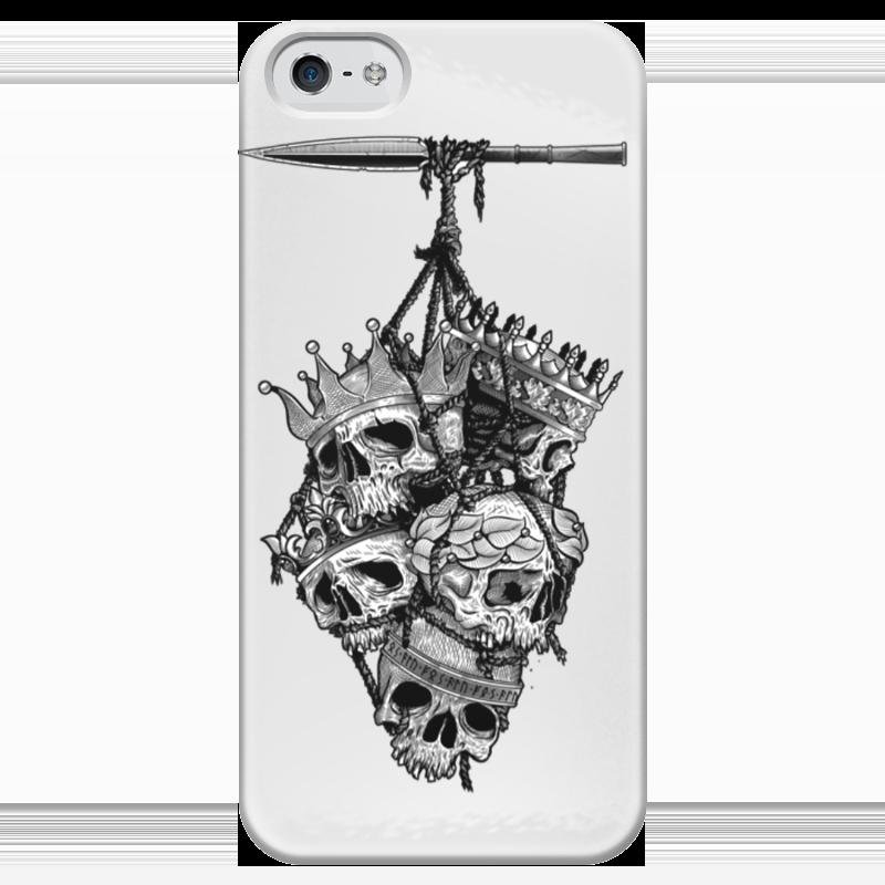 Чехол для iPhone 5 глянцевый, с полной запечаткой Printio Король королей чехол для iphone 5 глянцевый с полной запечаткой printio король лич
