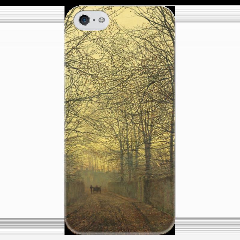 Чехол для iPhone 5 глянцевый, с полной запечаткой Printio Золотой октябрь (джон эткинсон гримшоу)