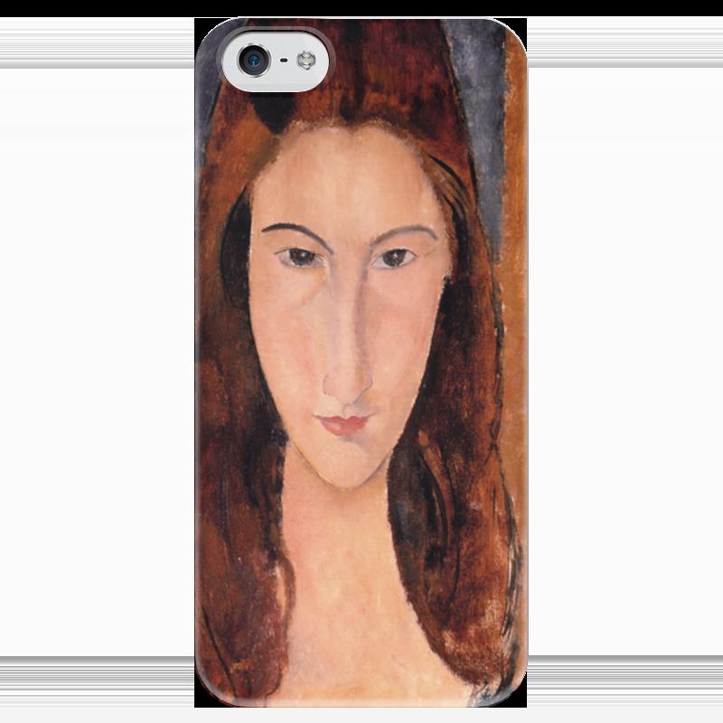 Чехол для iPhone 5 глянцевый, с полной запечаткой Printio Портрет жанны эбютерн