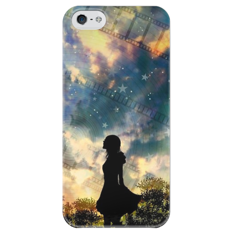 Чехол для iPhone 5 глянцевый, с полной запечаткой Printio Галактика чехол для iphone 5 глянцевый с полной запечаткой printio ember spirit dota 2