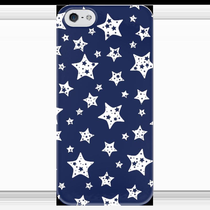 Чехол для iPhone 5 глянцевый, с полной запечаткой Printio Звёзды чехол для карточек пионы на синем фоне дк2017 113