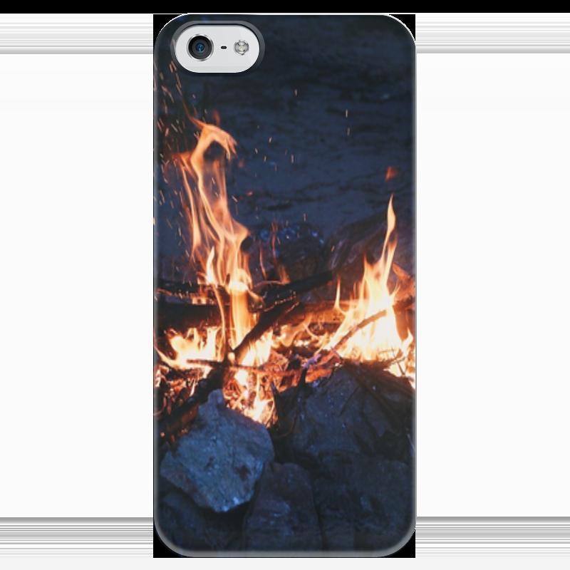 Чехол для iPhone 5 глянцевый, с полной запечаткой Printio Огонь чехол для iphone 5 глянцевый с полной запечаткой printio vengeful spirit