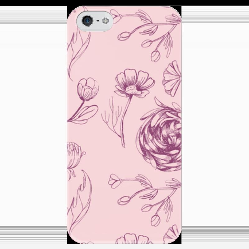 Чехол для iPhone 5 глянцевый, с полной запечаткой Printio Осенний сад чехол для iphone 6 глянцевый printio летний сад