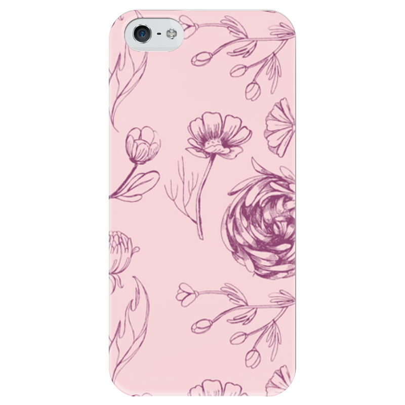 Чехол для iPhone 5 глянцевый, с полной запечаткой Printio Осенний сад кружка осенний сад r2s611 seas al