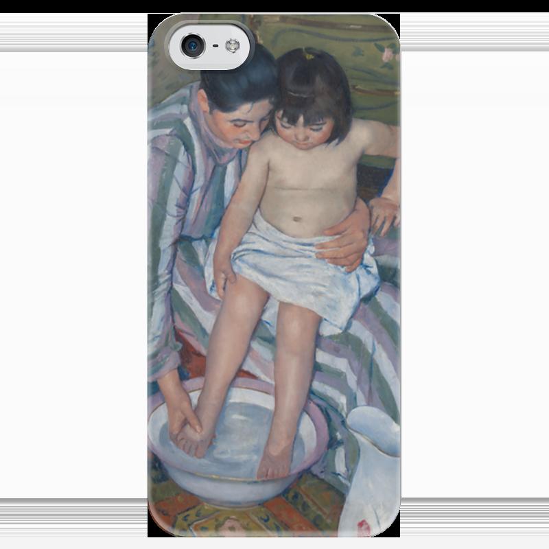 Чехол для iPhone 5 глянцевый, с полной запечаткой Printio Купание ребёнка купание в витаминами 300 мл