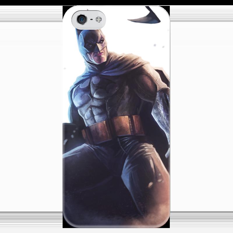 Чехол для iPhone 5 глянцевый, с полной запечаткой Printio Бэтмен чехол для iphone 5 глянцевый с полной запечаткой printio осенний день сокольники левитан