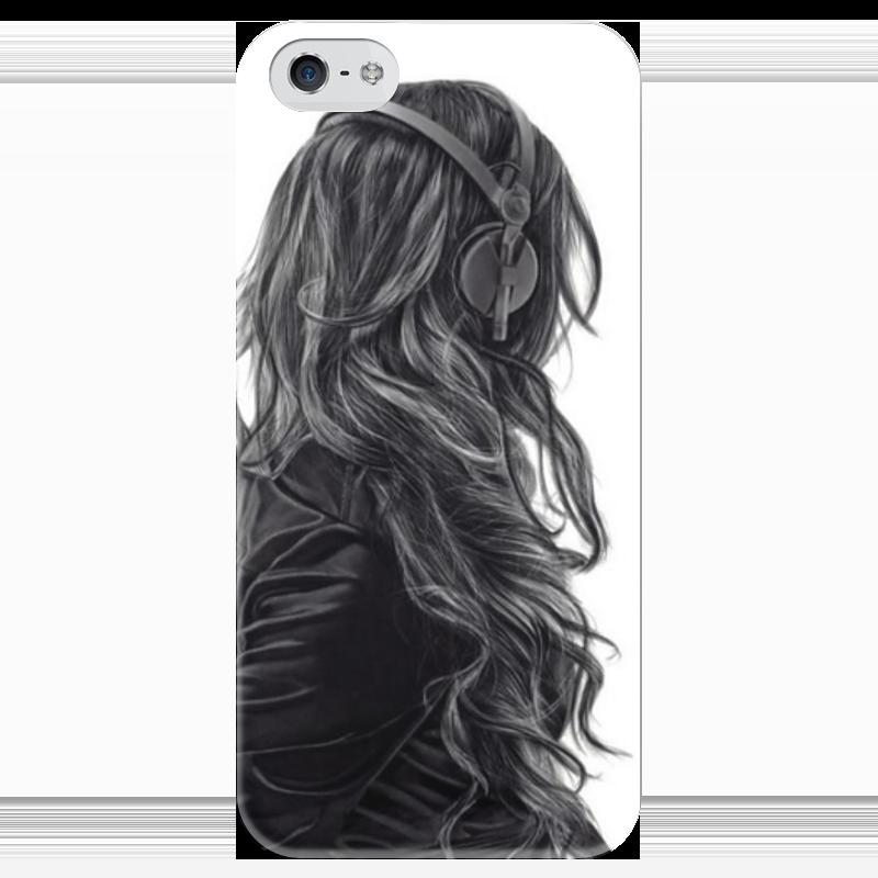 Чехол для iPhone 5 глянцевый, с полной запечаткой Printio Girl чехол для iphone 5 глянцевый с полной запечаткой printio анютины глазки