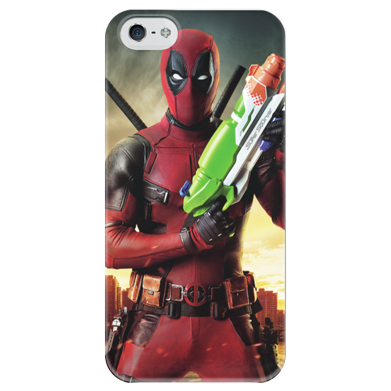 Чехол для iPhone 5 глянцевый, с полной запечаткой Printio Deadpool чехол для iphone 5 глянцевый с полной запечаткой printio ember spirit dota 2