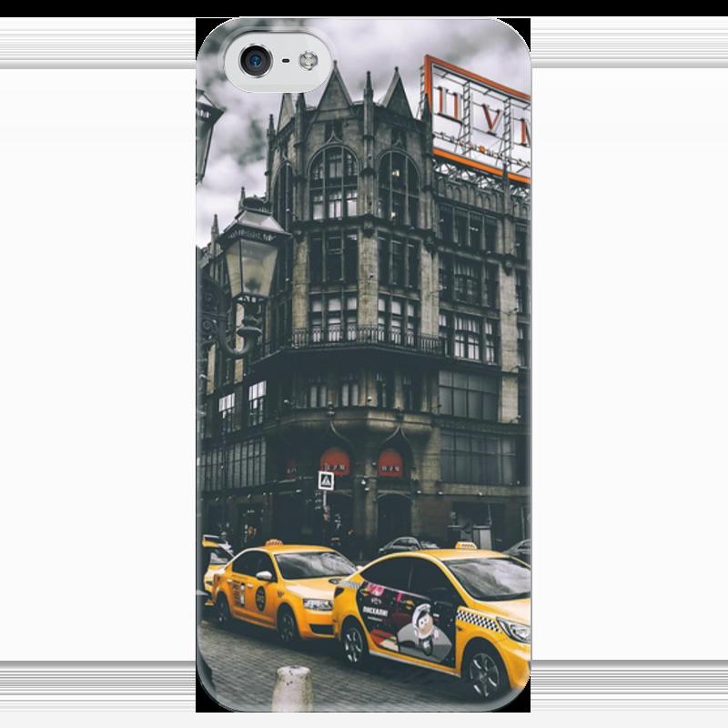 Чехол для iPhone 5 глянцевый, с полной запечаткой Printio Москва шорты nike шорты 7 printed distance short
