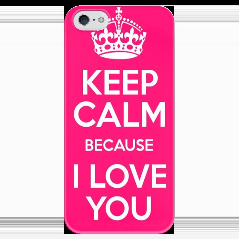 Чехол для iPhone 5 глянцевый, с полной запечаткой Printio Keep calm футболка wearcraft premium printio keep calm