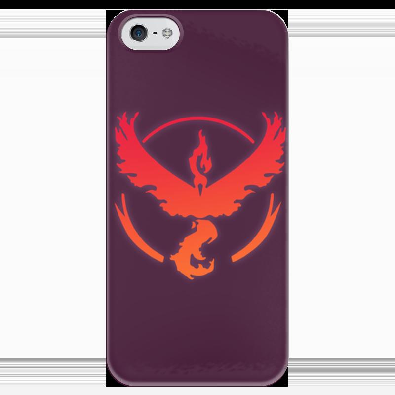 Чехол для iPhone 5 глянцевый, с полной запечаткой Printio Pokemon go: valor team блокнот printio pokemon go