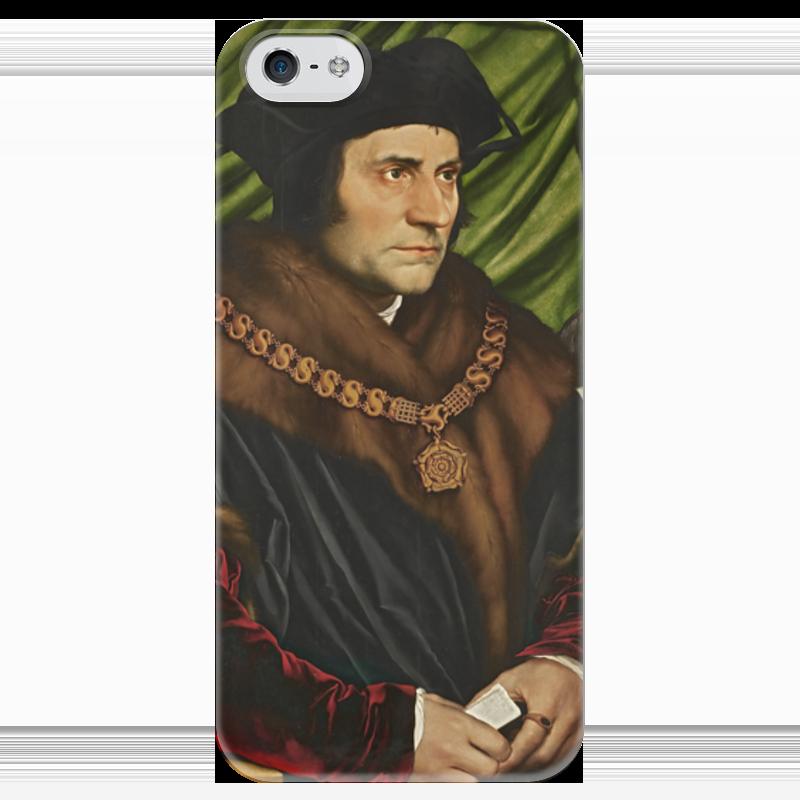 Чехол для iPhone 5 глянцевый, с полной запечаткой Printio Портрет томаса мора поршень на мотоледобур мора