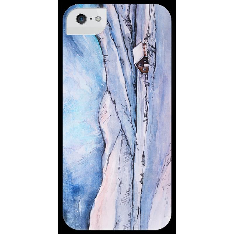 Чехол для iPhone 5 глянцевый, с полной запечаткой Printio Winter landscape