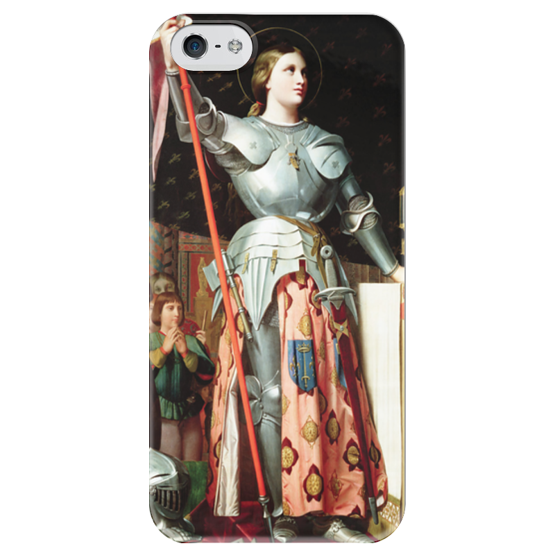 Чехол для iPhone 5 глянцевый, с полной запечаткой Printio Жанна д'арк на коронации карла vii (энгр) чехол для iphone 5 глянцевый с полной запечаткой printio влюбленные пьер огюст ренуар