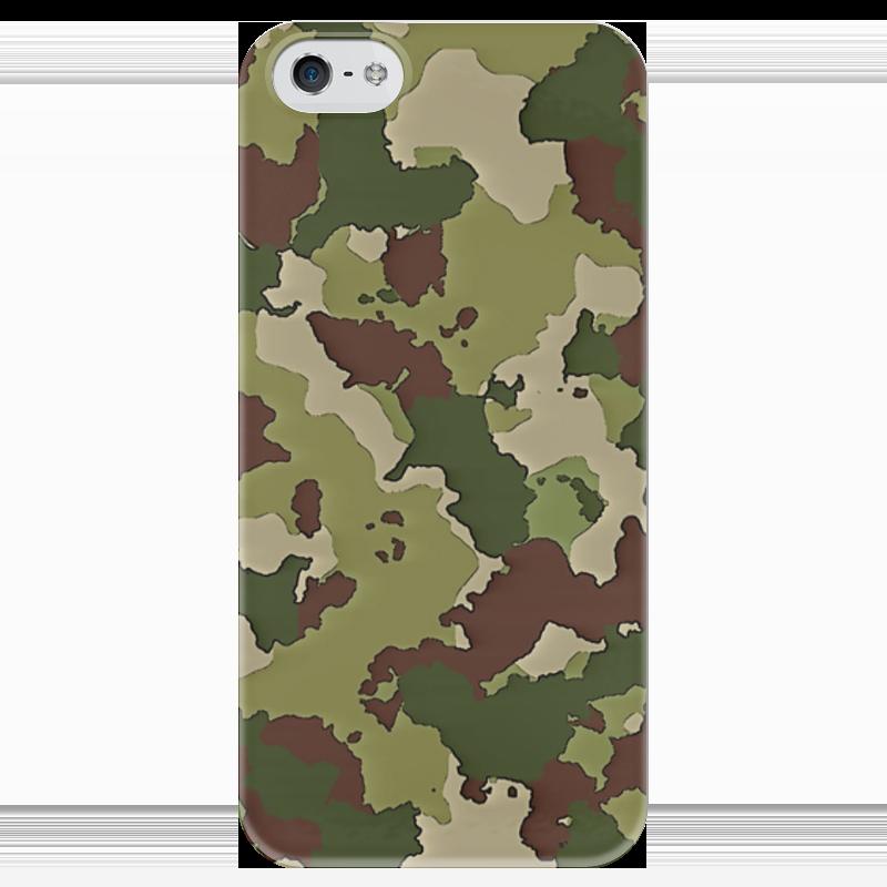 Чехол для iPhone 5 глянцевый, с полной запечаткой Printio Камуфляж чехол для iphone 5 глянцевый с полной запечаткой printio пилот