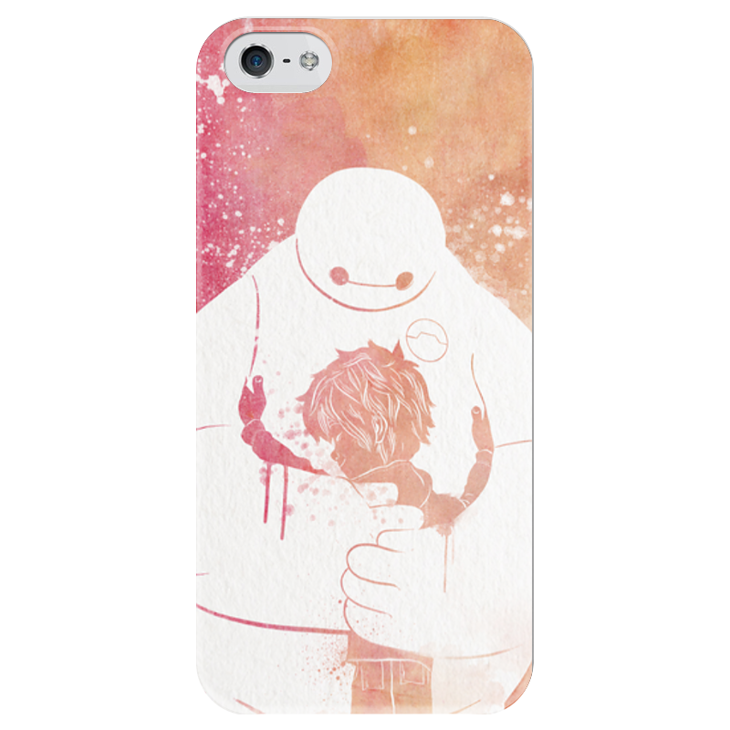 Чехол для iPhone 5 глянцевый, с полной запечаткой Printio Беймакс защитная пленка для мобильных телефонов 3pcs nokia lumia 730 735