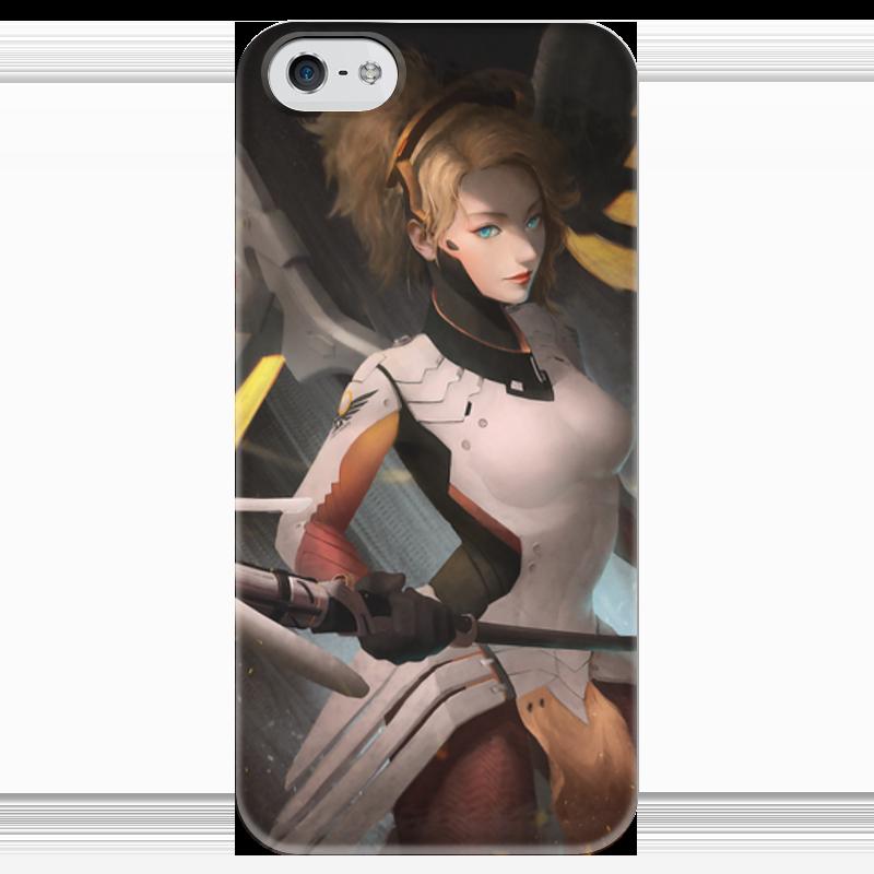 Чехол для iPhone 5 глянцевый, с полной запечаткой Printio Mercy чехол для iphone 5 глянцевый с полной запечаткой printio эфиопка