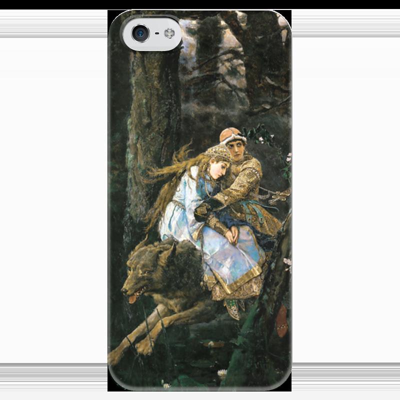 Чехол для iPhone 5 глянцевый, с полной запечаткой Printio Иван-царевич на сером волке (виктор васнецов) скульптура иван царевич