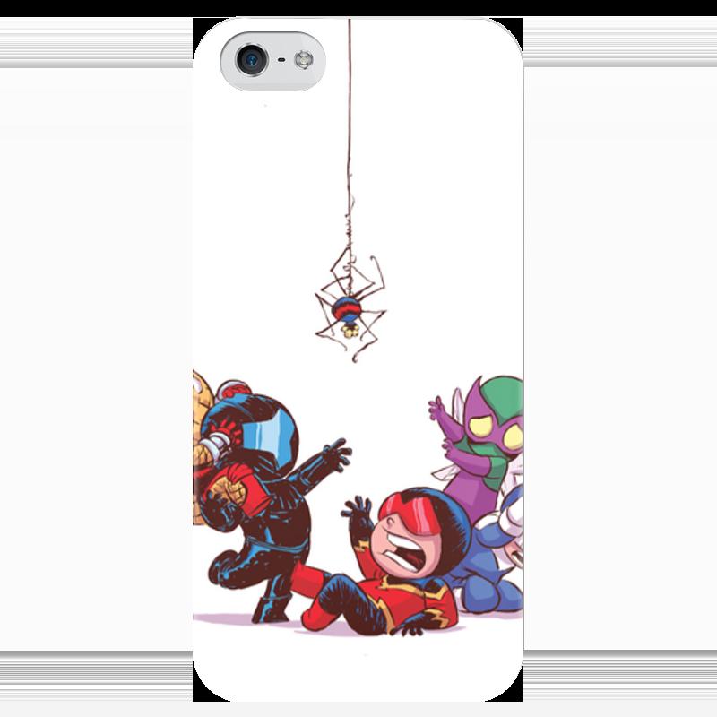 Чехол для iPhone 5 глянцевый, с полной запечаткой Printio Comics art series: spider чехол для iphone 7 глянцевый printio horror art