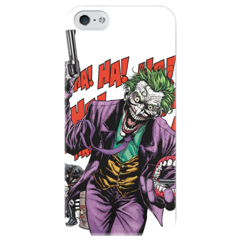 Чехол для iPhone 5 глянцевый, с полной запечаткой Printio Бэтмен и джокер cbr chp 540m