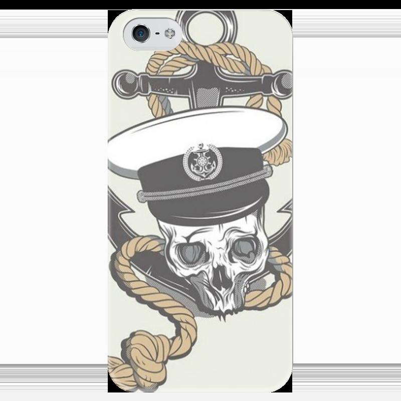 Чехол для iPhone 5 глянцевый, с полной запечаткой Printio Череп чехол