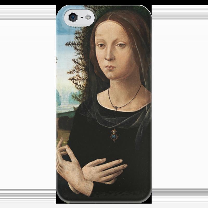Чехол для iPhone 5 глянцевый, с полной запечаткой Printio Портрет молодой женщины чехол для iphone 4 глянцевый с полной запечаткой printio портрет лоренцо медичи