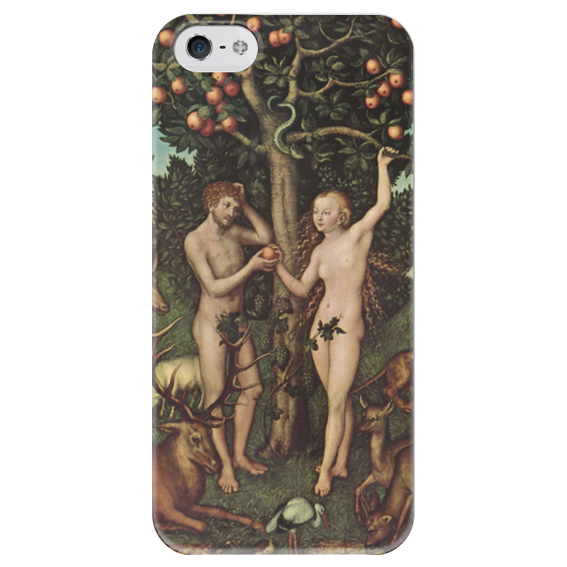 Чехол для iPhone 5 глянцевый, с полной запечаткой Printio Адам и ева (лукас кранах старший) здт лукас на волгу