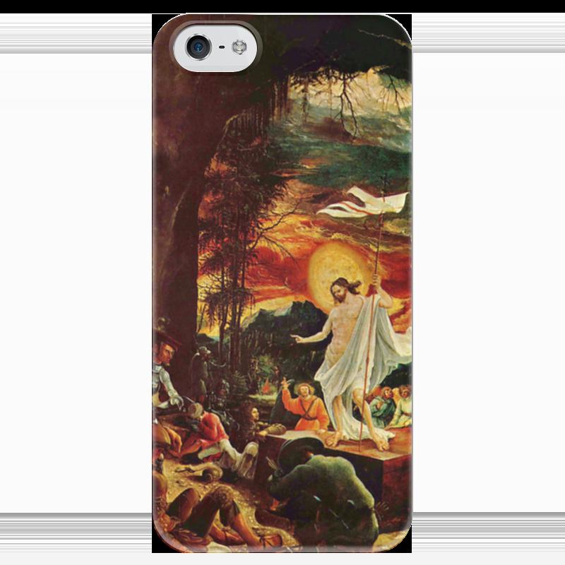 Чехол для iPhone 5 глянцевый, с полной запечаткой Printio Воскресение иисуса христа (альбрехт альтдорфер) воскресение бога воплощенного