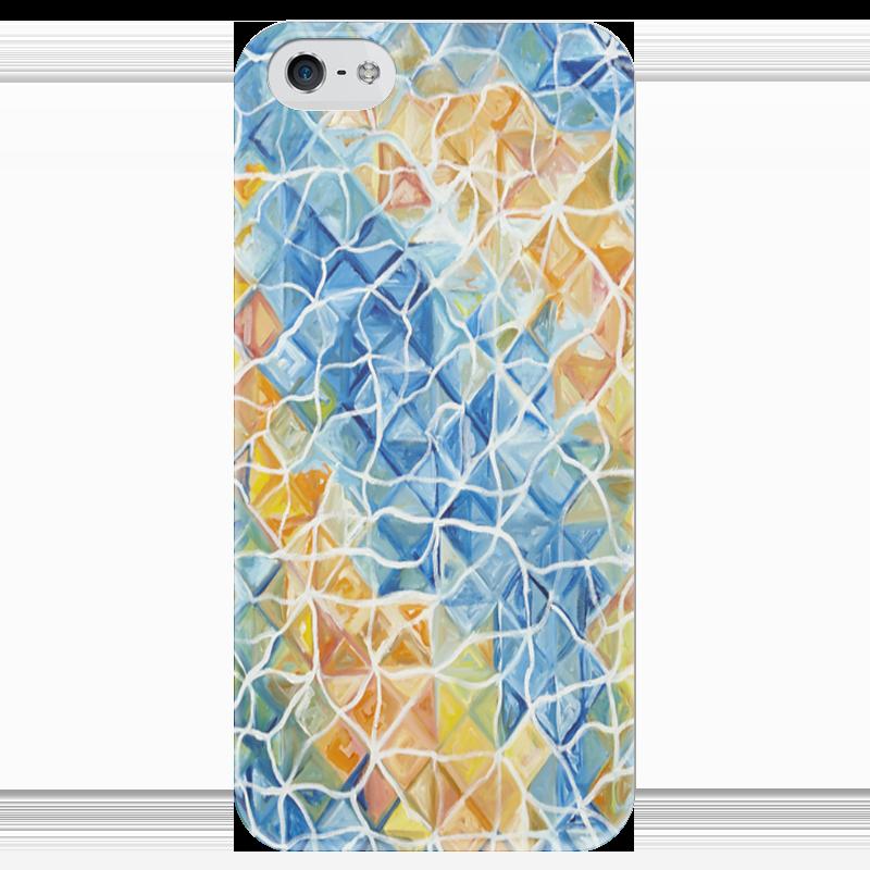 Чехол для iPhone 5 глянцевый, с полной запечаткой Printio Рыбы в бликах
