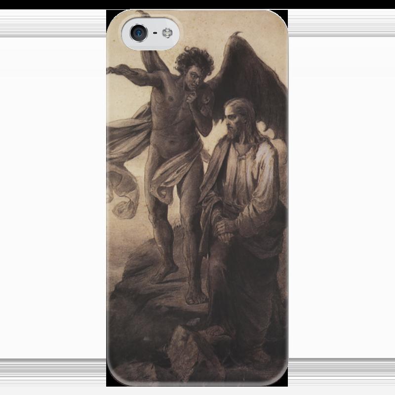 Чехол для iPhone 5 глянцевый, с полной запечаткой Printio Искушение христа (василий суриков) суриков и е гомер