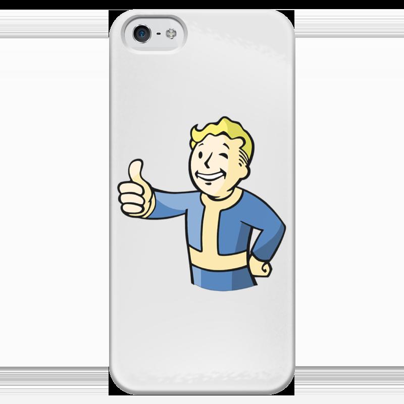 Чехол для iPhone 5 глянцевый, с полной запечаткой Printio Fallout case чехол для iphone 5 глянцевый с полной запечаткой printio uv grid iphone case